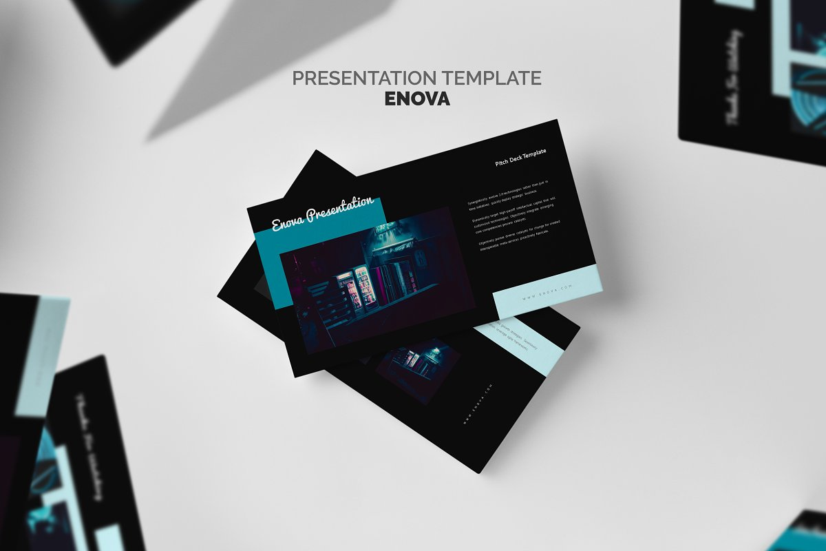 Enova Cyan Pitch Deck Google Slides