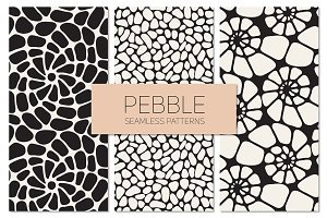 Pebble. Seamless Patterns Set