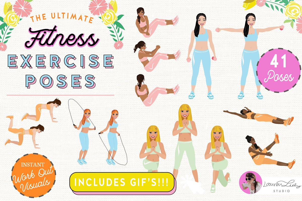 Exercise Fitness Poses Woman