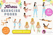 Exercise Fitness Poses Female