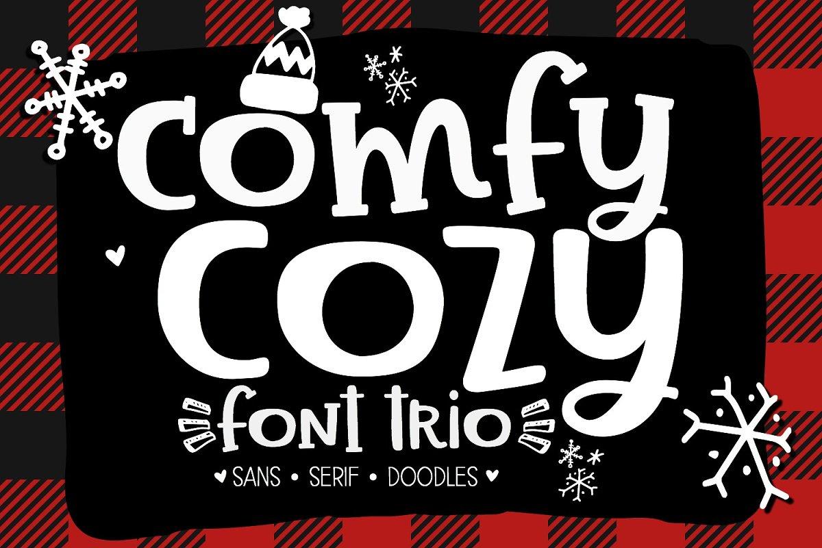 Comfy Cozy Font Trio