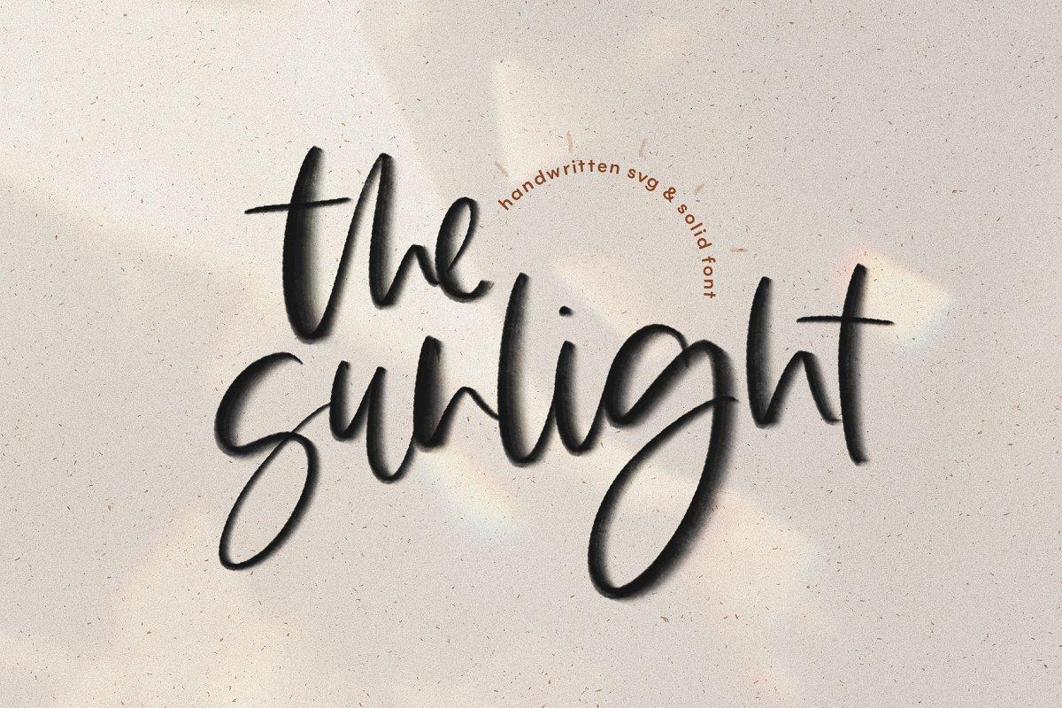 The Sunlight   SVG Script Font