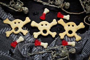 Skull cookies for Halloween