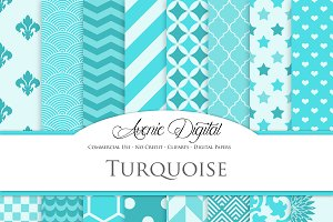 Turquoise Digital Paper
