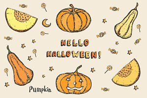 Hello Halloween! Autumn pumpkin kit.