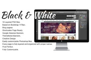 Black & White Psd Template