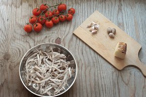 Making an italian lunch