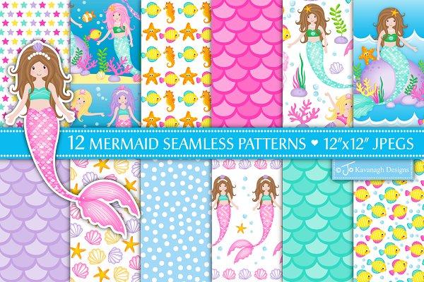 Mermaid Digital Paper, Mermaids -P17