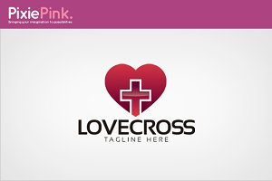 Love Cross Logo Template
