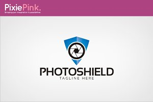 Photo Shield Logo Template