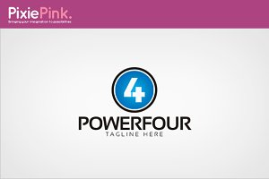 Power Four Logo Template