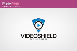 Video Shield Logo Template