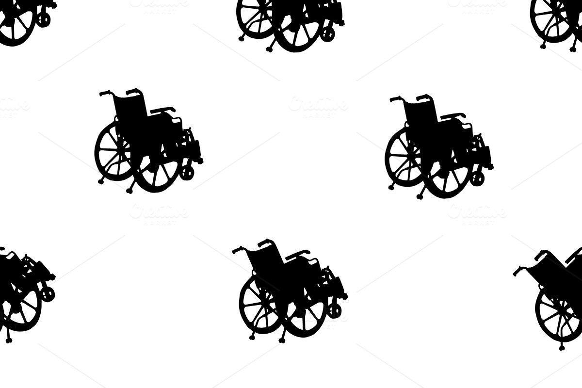 Wheelchair Silhouette Graphic Motif