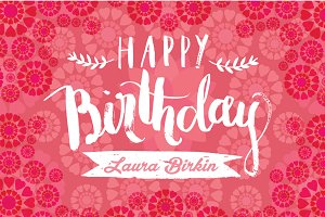 birthday greeting template vector