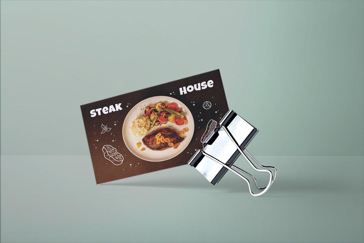 Steak House Business Card
