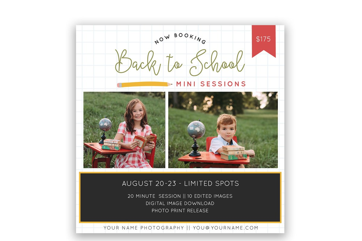 Back to School Mini Session Flyer