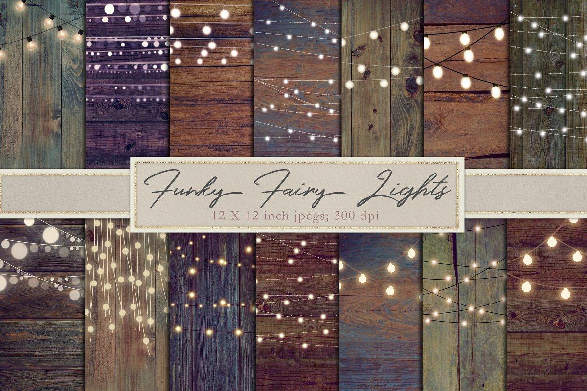Funky fairy light backgrounds