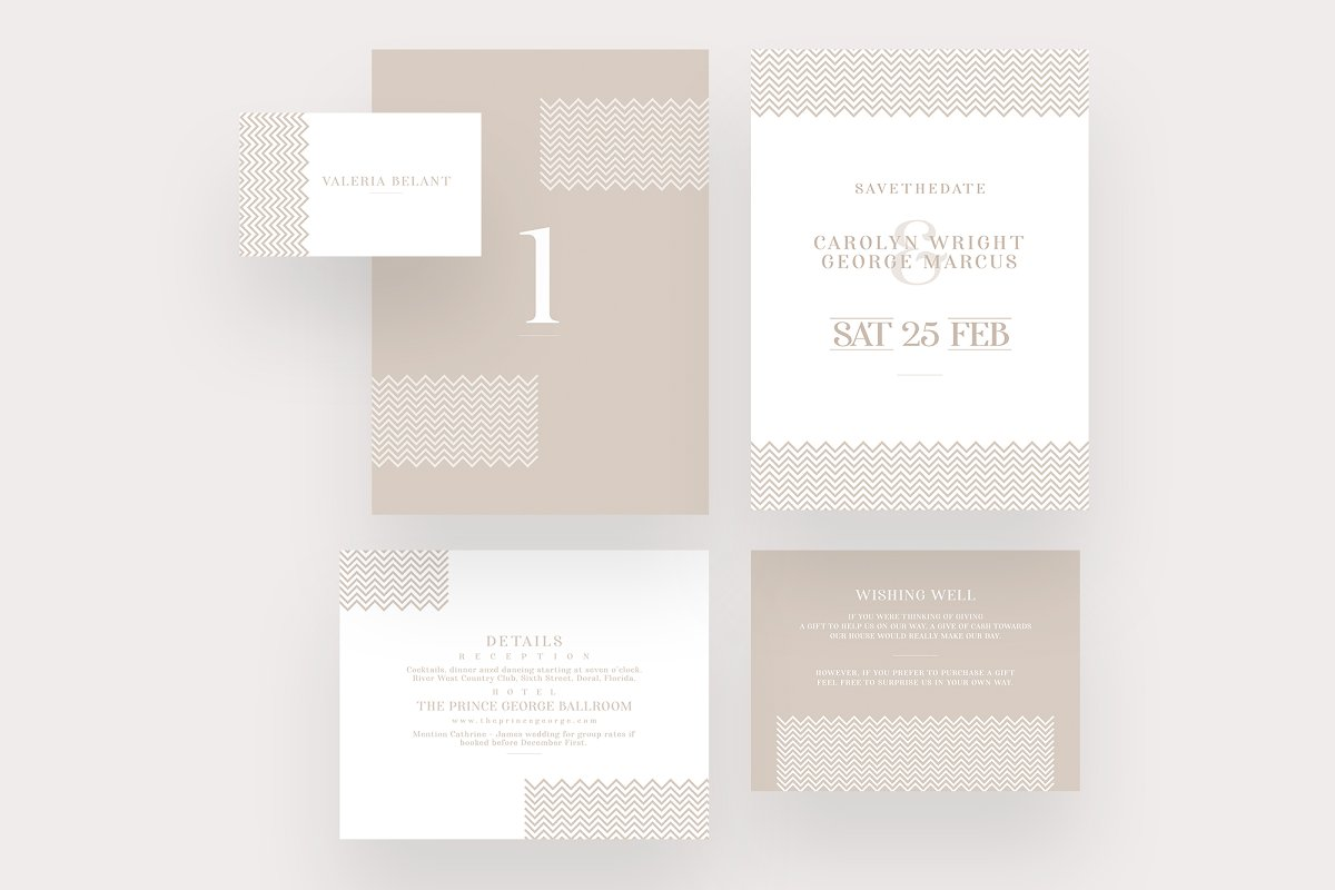 Minimal Rosegold Wedding Suite in Invitation Templates - product preview 1