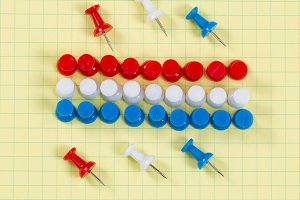 Thumbtacks in USA Colors