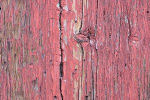 Ancient wooden door red.