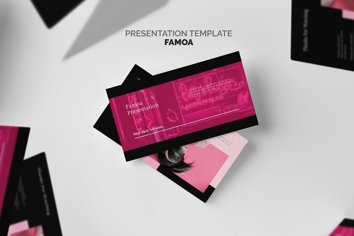 Famoa : Pink Pitch Deck Keynote