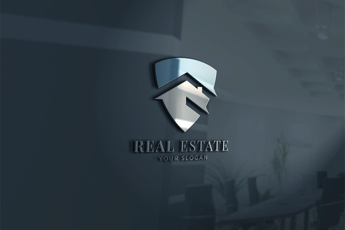 Shield Real Estate Logo in Logo Templates - product preview 1