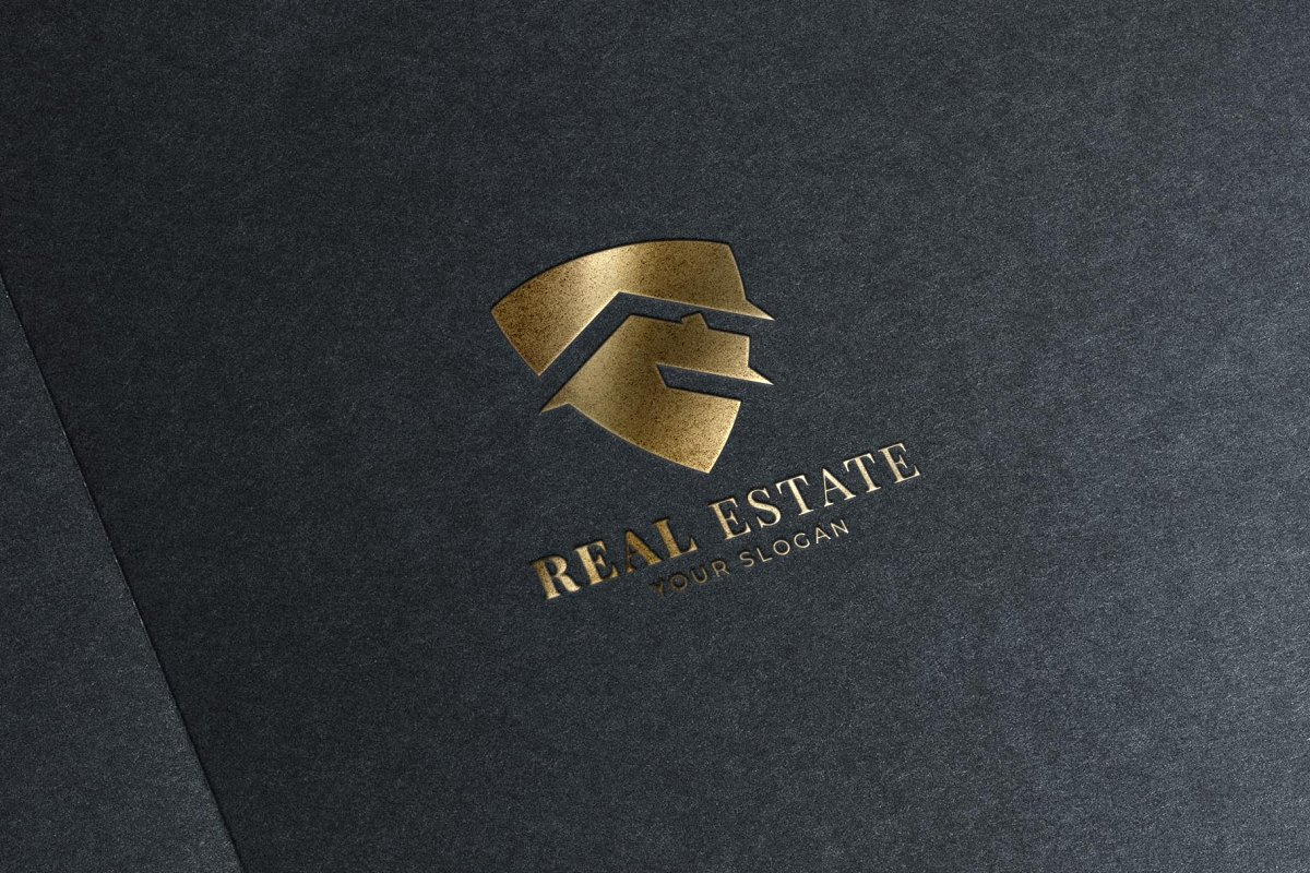 Shield Real Estate Logo in Logo Templates - product preview 2