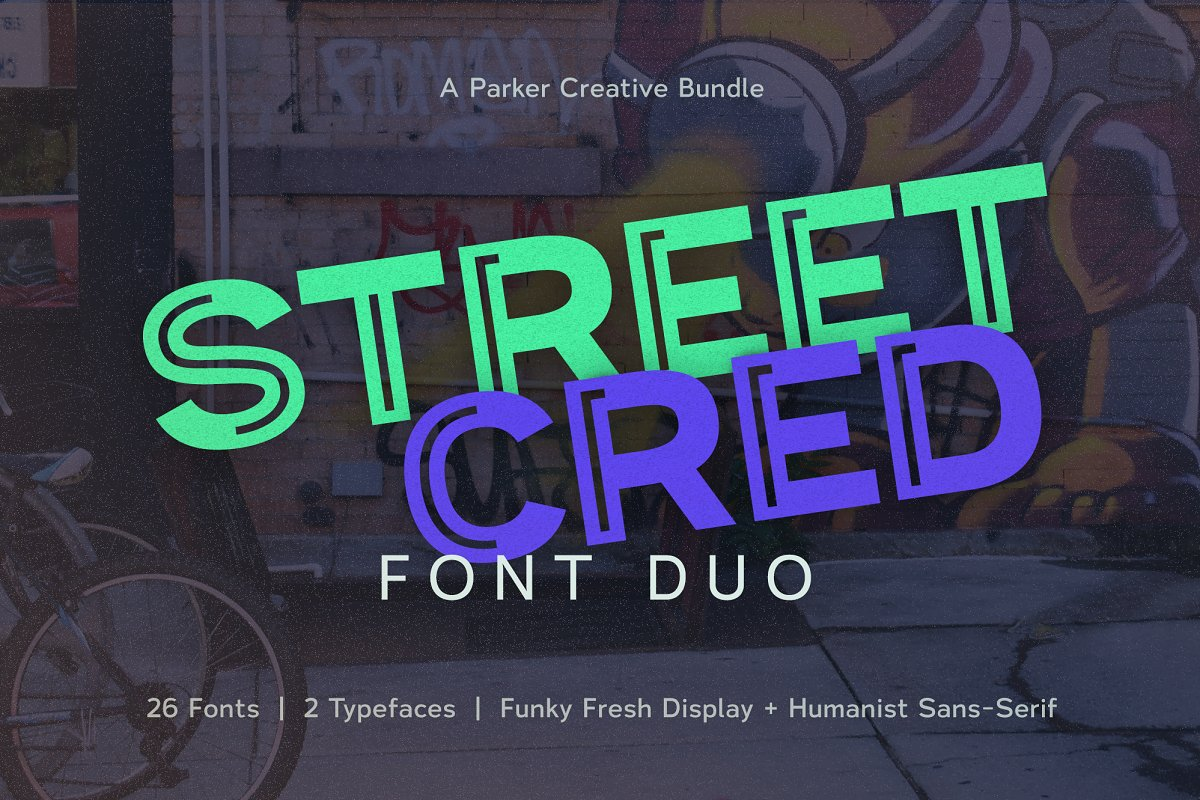 Street Cred Font Duo in Sans-Serif Fonts - product preview 8