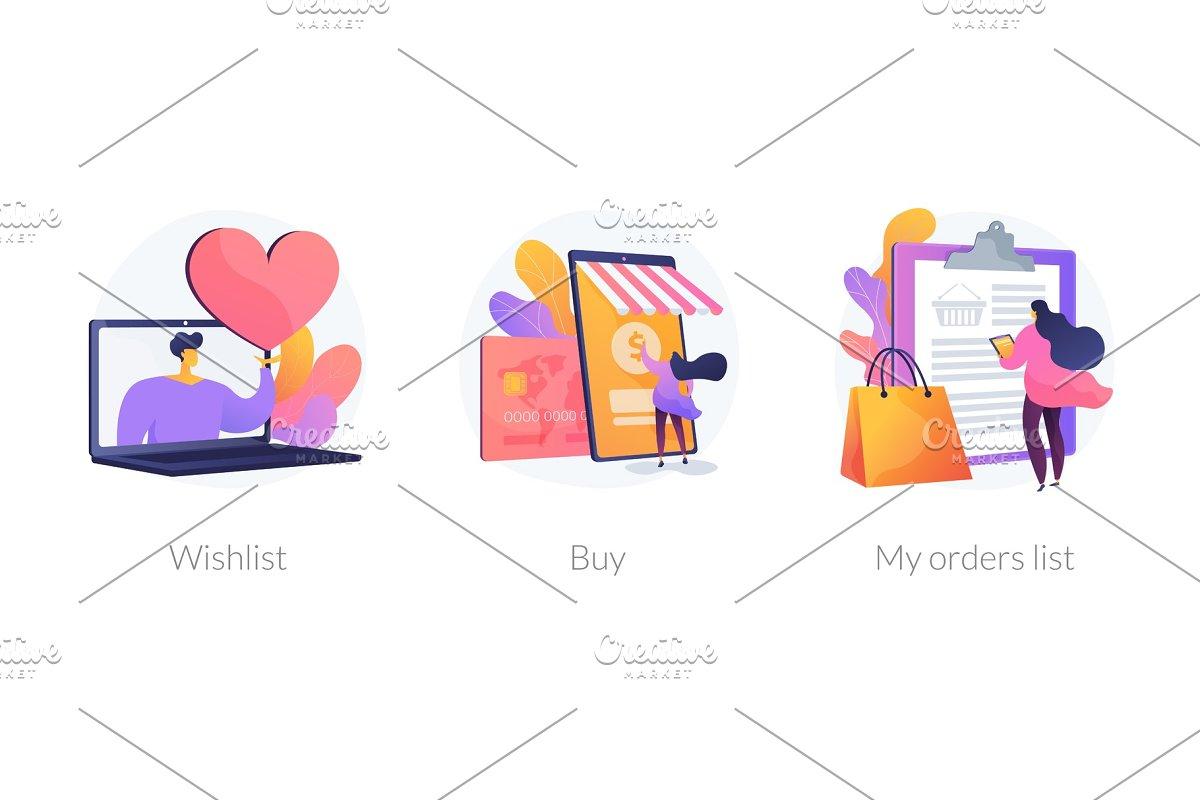Online shopping vector concept