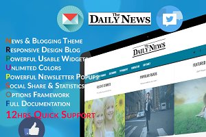 Daily - Blog & News Wordpress Theme