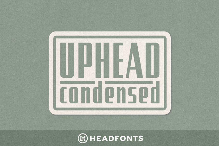 Uphead Condensed Typeface