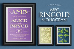 MFC Ringold Monogram - Layered Font
