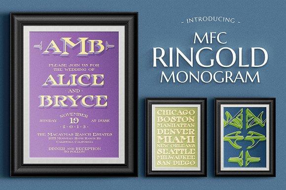 MFC Ringold Monogram - Layered Font