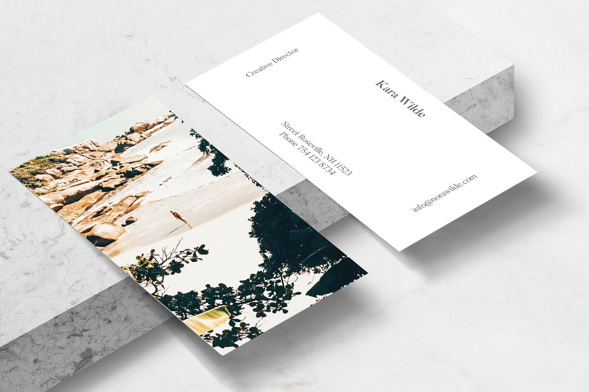 Solo Traveler II Art & Stationary in Business Card Templates - product preview 1