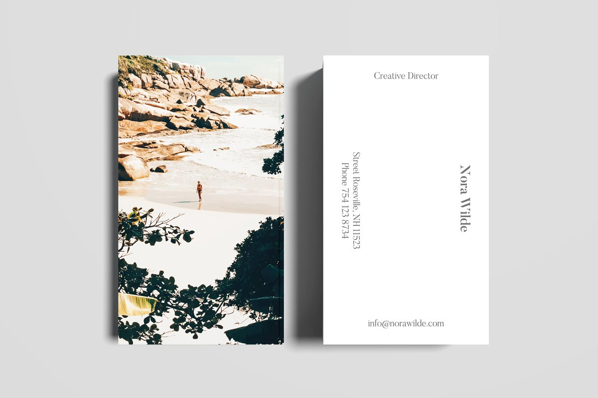 Solo Traveler II Art & Stationary in Business Card Templates
