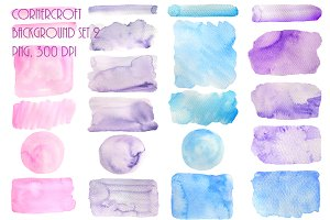 Watercolor Texture Background Blue