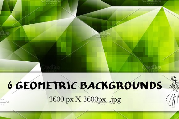 6 Geometric Backgrounds in Textures