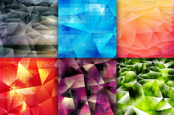 6 Geometric Backgrounds in Textures - product preview 1