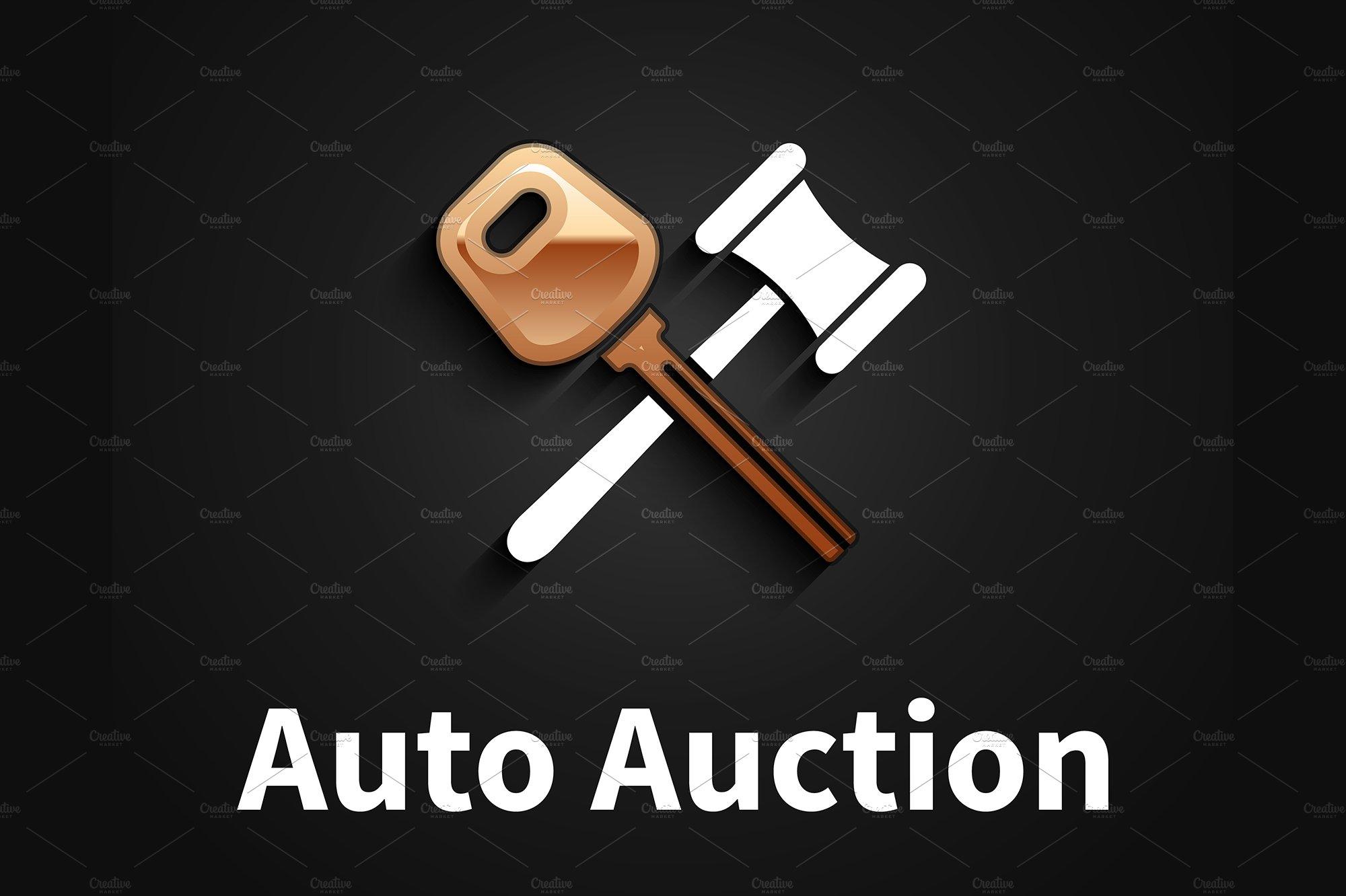 Car Auction Logo Design Pre Designed Illustrator Graphics Creative Market