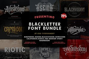 Blackletter Fonts ~ Creative Market