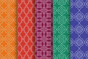 Arabic geometric seamless patterns