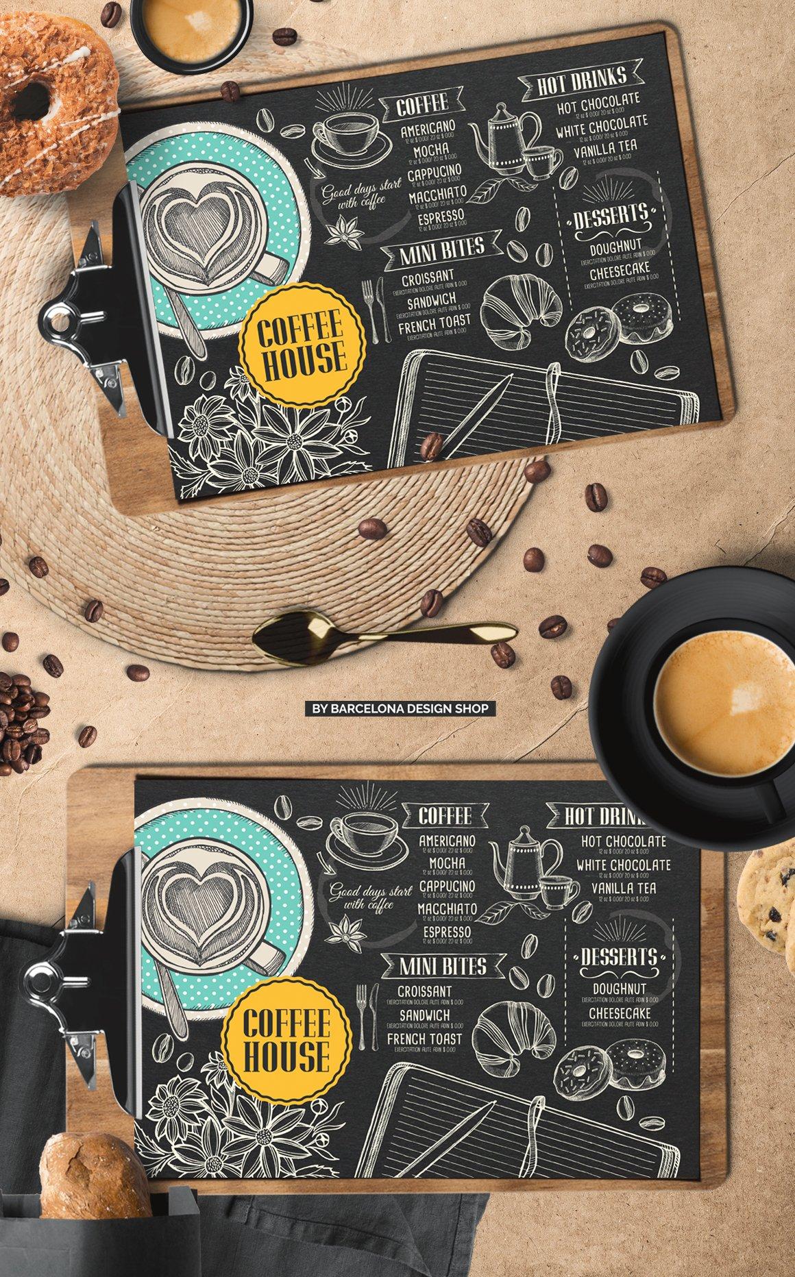 FREE! Trifold + Coffee Menu Template   Creative Brochure ...