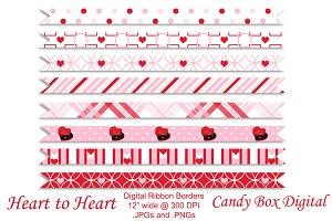 Heart to Heart Digital Ribbon Border