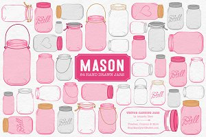 Hot Pink Jar Vectors & Clipart