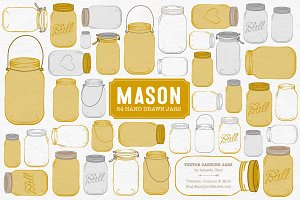 Mustard Jar Vectors & Clipart