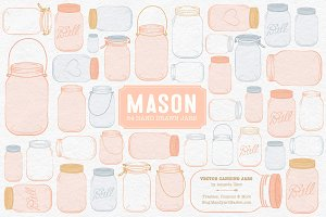 Peach Jar Vectors & Clipart