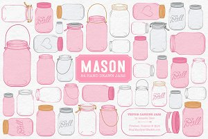 Pink Jar Vectors & Clipart
