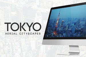 Tokyo Aerial Cityscapes Photo Bundle