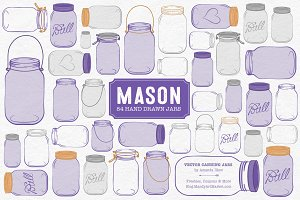 Purple Jar Vectors & Clipart