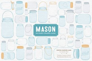 Soft Blue Jar Vectors & Clipart